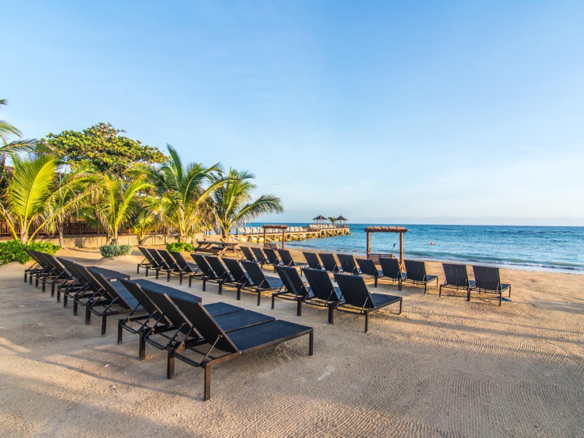 Hilton Rose Hall Resort & Spa Resort - Beach Loungers