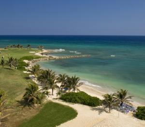 Hilton Rose Hall Resort & Spa Montego Bay Jamaica - Resort Golf and Beach Area